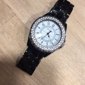 Finesse watch black